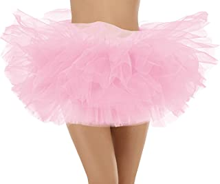 Bridesmay Tutu en Tulle Jupe Femme Ballet 5-Couche D/élastique Multicolore pour Danse No/ël Cosplay D/éguisement Carnival