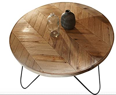 Round Wood Table With Steel Legs