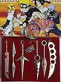 Naruto Handschwert ohne Waffenzubehör 7-teiliges Set Anime-Spielzubehör Beste Geschenksammlung