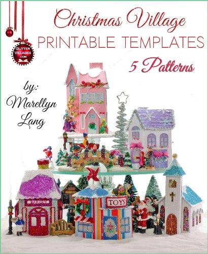 Christmas Village Printable Templates | 5 Patterns (English Edition)