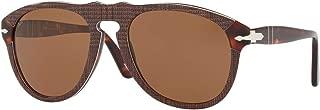 Persol Men's 0PO0649 Square Polarized Sunglasses