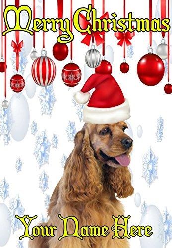 Cocker Spaniel perro ptcc129gorro de Papá Noel Navidad tarjeta de Navidad A5tarjetas...