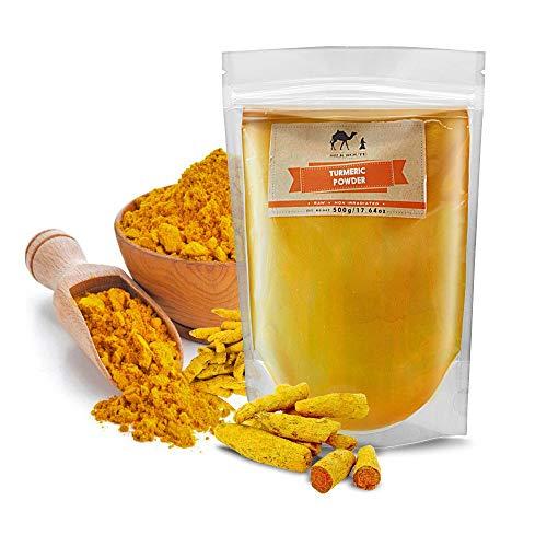 Silk Route Spice Company Kurkuma poeder - 500g Hersluitbare zak Zuivere Kurkumapoeder