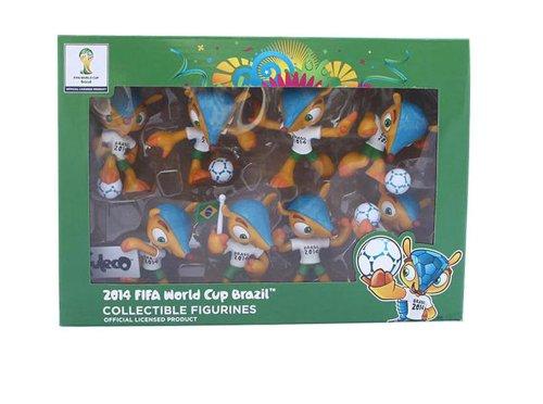 Fifa Wm 2014 - 8 fuleco figuritas coleccionables en una Caja de coleccionista la Mascota Oficial de la Copa Mundial de la FIFA 2014 Brasil