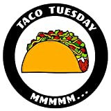 PHS Taco Tuesday MMM. Decal for Car Truck Window USA Stickers 3.5 in
