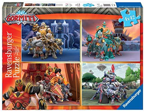 Ravensburger- Gormiti Puzzle per Bambini, Multicolore, 4 x 42 Pezzi, 5017