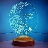 Nachttischlampe Kinder Personalisierte Geschenke Geburtstag Led Lampe Wunschtext Schlummerlicht Farbwechsel Deko Lampe Taufe