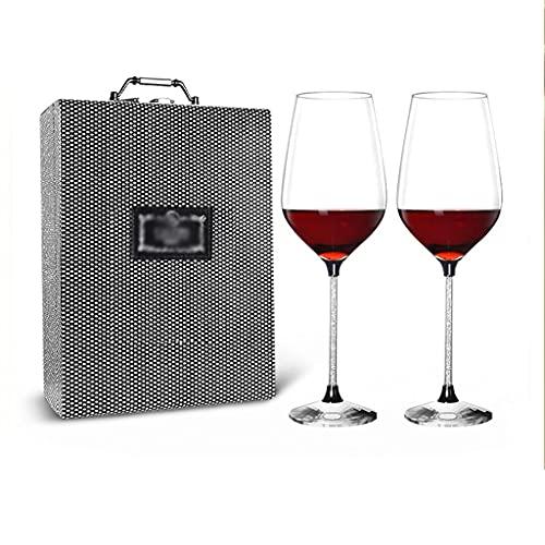FEANG Copas de vino de 650 ml, sin plomo y sin plomo, 2 unidades, ideal para vino blanco y tinto para fiestas de inauguración de la casa, copas de champán