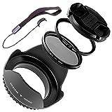 LUMOS 5er Ensemble de Canon Photo Objectif accessoires 58mm Filtre UV...
