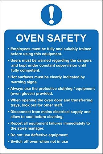 Oven Veiligheid Keuken Horeca Veiligheid Teken Stickers, Waarschuwing Stickers Labels, Zelfklevende Vinyl,Veiligheid Let Let op Teken Stickers, 30X20CM