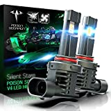 POISON SCORPION Fanless HB4 9006 LED Bulbs Conversion Kit for Car   High Brightness PHI Chips 6500K Cool White Wireless All-in-One Halogen Replacement
