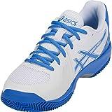 ASICS Gel-Court Speed Clay Women's Tennis Shoe, White/Coastal Blue, 5 B US