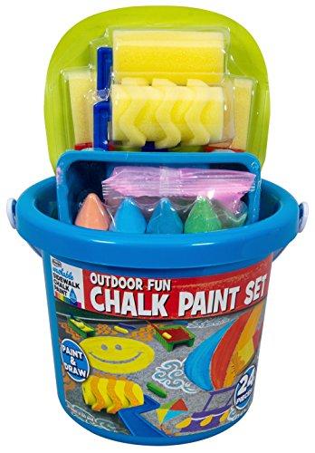 RoseArt Sidewalk Chalk Outdoor Fun Chalk Paint Set,,