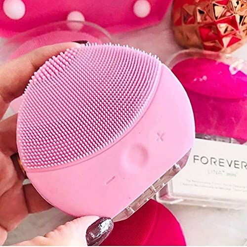 Escova Limpeza Facial Massageador Recarregável Mini Luna 2 - Rosa