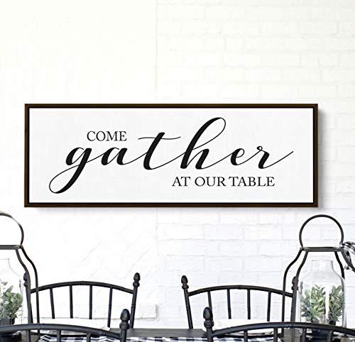 Ced454sy Kom verzamelen aan onze tafel grote keuken bord bord voor eetkamer woonkamer muur Decor Boerderij Verzamel Decor