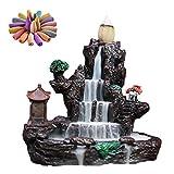 achievr Weihrauchhalter, Rückfluss Weihrauchhalter Hot Springs Tree Wasserfall Weihrauchbrenner, Aromatherapie Ornament Home Decor Mit 60 Rückfluss Weihrauchkegeln