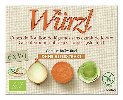 Würzl - Bio-Gemüse-Brühwürfel ohne Hefeextrakt - 6x12 g