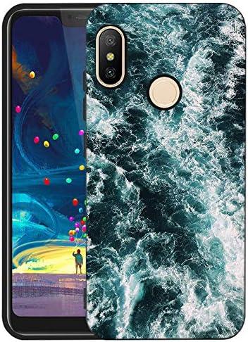 LeviDo Funda Compatible para Xiaomi Redmi 6 Pro/Xiaomi Mi A2 Lite Silicona Bumper Caucho Caso TPU Case Delgado Goma Parachoque Antigolpes Negro Cover, mar