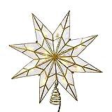 Kurt S. Adler UL3149 Treetop, White, Gold