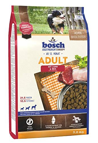 bosch HPC Adult mit Lamm & Reis | Hundetrockenfutter für ausgewachsene Hunde aller Rassen | 1 x 3 kg