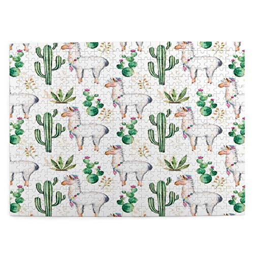 Adulto 500 Piezas Juego de Rompecabezas Patrón de cactus de planta del desierto del sur caliente con impresión de imagen coloreada moderna de Juguetes Educativos Para Niños Decoración hogareña