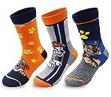 Tomicy Paw Dog Patrol 3er Pack Socken Kinder Junge Mädchen Strümpfe 3 Paar Mix Vielen Verschiedenen Muster & Designs