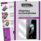 dipos I 2x Protector de Pantalla compatible con Alcatel Flash Plus 2 pelicula Protectora Claro