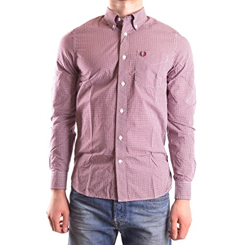 Fred Perry Herren FP Classic Gingham Shirt Freizeithemd, Mehrfarbig (Mahogany), S (Herstellergröße: S)