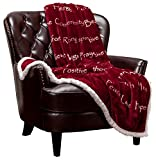 Chanasya Healing Compassion Hugs Gift Throw Blanket - for Hope Support Comfort Encouragement Sympathy - Breast Cancer Chemo Surgery Get Well Soon Caring Red Gift - Patient Women Men Friend - Maroon