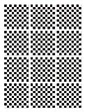 Panorama Azulejos Adhesivos Cocina Baño Pack de 24 Baldosas de 20x20cm Cuadrados Blanco y Negro - Vinilos Cocina Azulejos - Revestimiento de Paredes - Cenefas Azulejos Adhesivas
