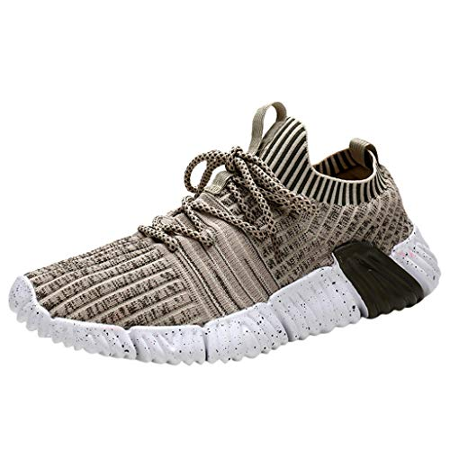 Find Discount Men Low-Top Fly Woven Breathable Running Shoes Outdoor Casual Sneakers Shoes Autumn Wi...