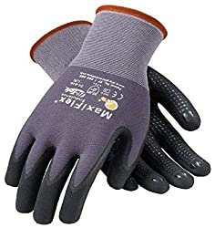 cheap PIP 34-844 / L MaxiFlex durable knit gloves, large, gray (12 per pack)