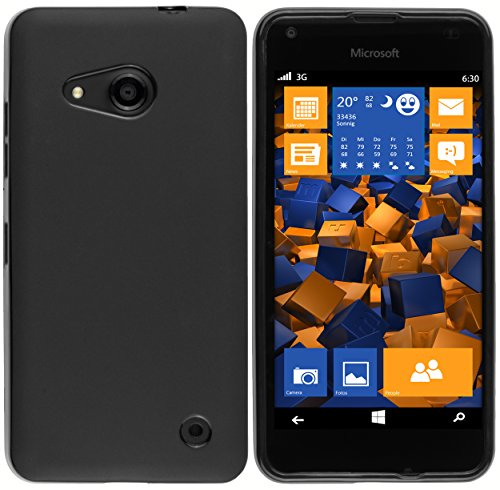 mumbi Hülle kompatibel mit Microsoft Lumia 550 Handy Case Handyhülle, schwarz