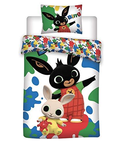 Ropa de cama de algodón de Bing Bunny, 140 x 200 cm + 70 x 90 cm