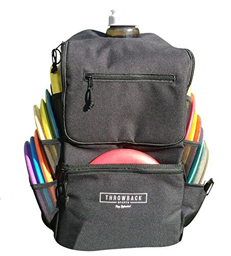 Throwback All Day Pack - Disc Golf Backpack with Oversize Cooler Built-in - Frisbee Disc Golf Bag with 16 Disc Capacity