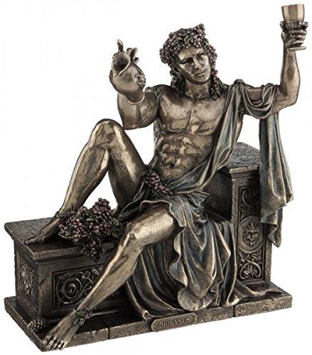 Unbekannt Figur Dionysos griechicher Gott des Weines mit Weinkrug bronziert Skulptur Weintraube