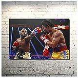 フロイドメイウェザーファイティングスーパーボクサーキャンバス絵画アートポスターとプリント写真ボクシングスポーツ写真リビングルームの装飾60x90cmフレームなし1個