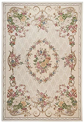 Sona-Lux Tapis classique Motif floral Beige
