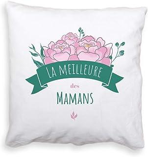 Coussin Personnalisable - Maman Fleurie - Cadeau Fête des mères Original