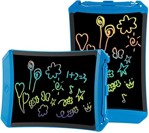 TEKFUN Tablet para niños 8.5 Pulgadas,Tableta de Escritura LCD de con Bloqueo de Pantalla borrable y función Reutilizable,Portatiles Baratos,Pizarra Luminosa niños,Juegos educativos(Blue-1)