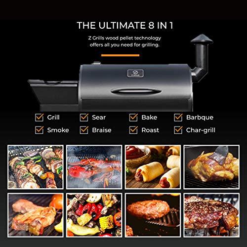 Z Grills ZPG-7002B 2019 New Model Wood Pellet Grill & Smoker, 8 in 1 BBQ Grill