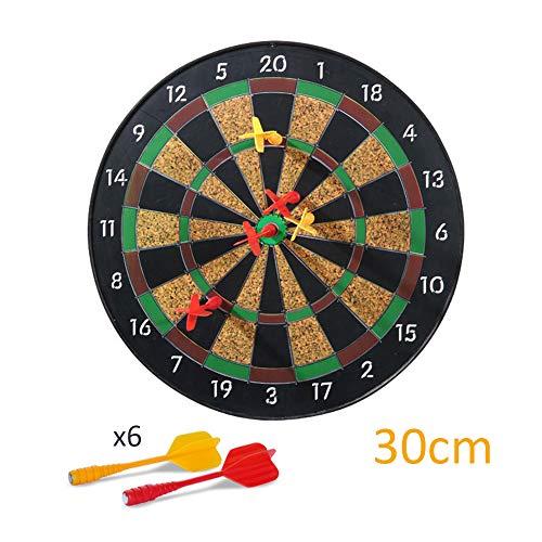 LYY Professionelles Magnetic Dart Board für Kinder mit 6 Magneten Dart, Sicherheit und Umweltschutz Ziel Dartscheibe Spielzeug Eltern-Kind-Spiel Dart