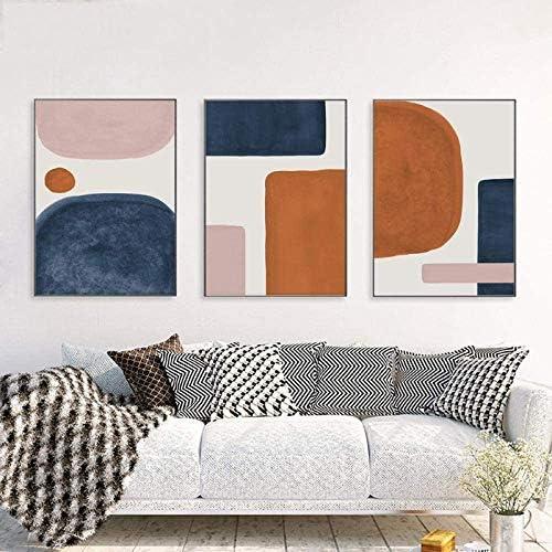 Mid Century Wall Art Modern Canvas Prints Art Abstract Wall Decor Minimalist Geometric Wall product image