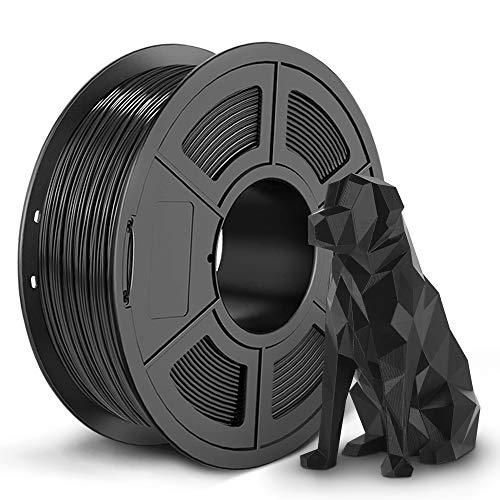 SUNLU 3D Filament, 3D Printer Filament New 3D Filament of PETG, 1.75mm, 0.02 mm, 1KG Black SPLA