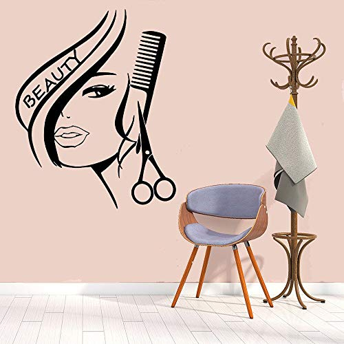 Barbershop muur stickers schoonheid graphics decals mode haar salon muur stickers