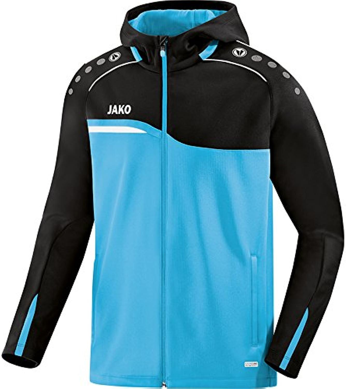 (44 (EU), aqua black) - Jako Competition 2.0 Women's Hooded Jacket, Womens, 6818
