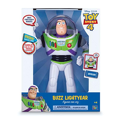 Bizak - Toy Story Figura Articulada Buzz Lightyear con Voz 30 cm