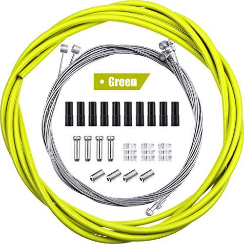 4 Stück Universal Fahrrad Innen Bremse Kabel Gehäuse Kit Fahrrad Bremskabel Ersatz für Berg und Rennrad (Grün)