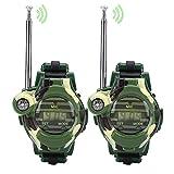 Relojes Walkie Talkie para niños, 2 Unids Simulación Reloj Militar Walkie Talkies Actividad al Aire Libre Juguetes Regalos para Niños