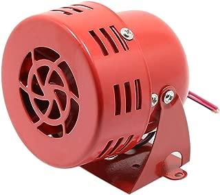 Walmeck Automotive Air Horn, Loud Sound Horn 12V 105dB Electric Car Driven Brake Motor Air Raid Siren Horn Alarm Loud 50s Red for Car Truck Motorcycle